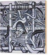 Grid Wood Print