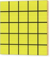 Grid In Black 05-p0171 Wood Print