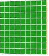 Grid In White 09-p0171 Wood Print