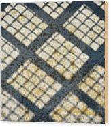Grid Shadow On Concrete Wood Print