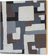Grids  Wood Print