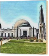 Griffith Observatory, Los Angeles, California Wood Print