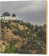 Griffith Park Observatory Wood Print