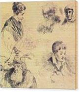 Griffonnage 1814 Wood Print
