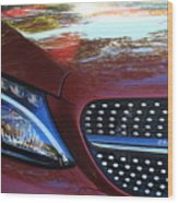 Grille  And Headlight  Wood Print