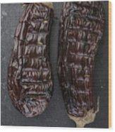 Grilled Aubergine Wood Print