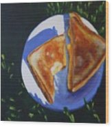 Grilled Cheese Picnic Wood Print