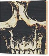 Grim Grin Wood Print