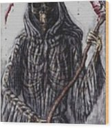 Grim Reaper Colored Wood Print