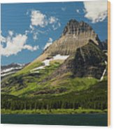 Grinell Mountain Wood Print