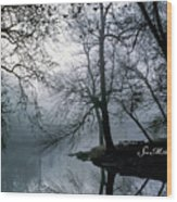 Grings Mill Fog 1043 Wood Print