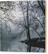 Grings Mill Fog 1043 Wood Print
