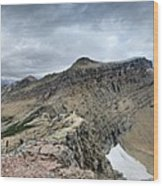 Grinnell Glacier Overlook Panorama - Glacier National Park Wood Print