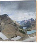 Grinnell Glacier Overlook Vista - Glacier National Park Wood Print