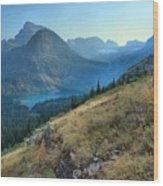 Grinnell Glacier Trail Hiker Wood Print