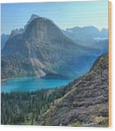 Grinnell Lake - Many Glacier Wood Print