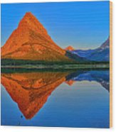 Grinnell Point Alpenglow Panorama Wood Print