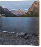 Grinnell Point Over Swiftcurrent Lake Wood Print