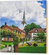 Gripsholms Dardshus Wood Print