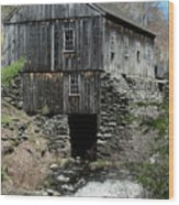 Grist Mill At Moore State Park Wood Print