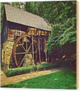 Gristmill - Charlottesville Virginia Wood Print