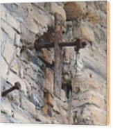 Gristmill Cross One Wood Print