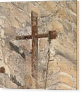 Gristmill Cross Two Wood Print