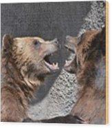 Grizzlies' Playtime 6 Wood Print