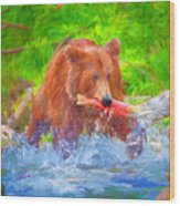 Grizzly Delights Wood Print