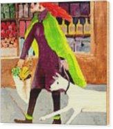 Grocery Run Wood Print