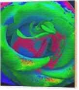 Groovin Rose Wood Print