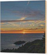 Gros Cap Sunset Wood Print