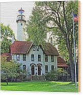 Grosse Point Light Station Wood Print