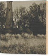 Grosse Point Lighthouse Sepia Wood Print