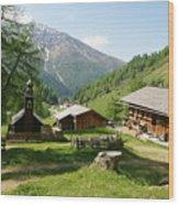 Grossglockner Road Wood Print