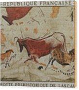 Grotte Prehistorique De Lascaux Wood Print