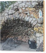 Grotto Of Our Lady Of Lourdes 2 Wood Print
