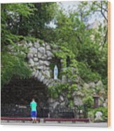 Grotto Of Our Lady Of Lourdes Wood Print