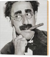 Groucho Marx, Vintage Comedy Actor Wood Print