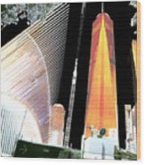 Ground  Zero Freedom Tower Formerly World Trade  Centre Wtc New York Photo Taken On July 4 2015 Usa  Wood Print