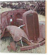 Grounded Chevy Wood Print