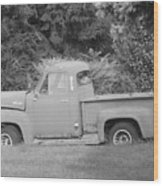 Grounded Pickup Wood Print