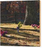 Groundhog Hill Cemetery Wood Print