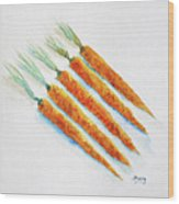 Group Of Carrots Wood Print