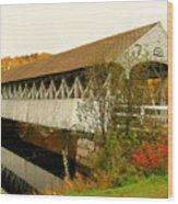 Groveton-northumberland Covered Bridge Wood Print