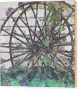 Growing Wheels Wood Print