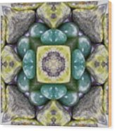 Grren Stones Wood Print