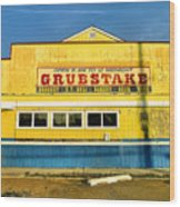 Grubstake Wood Print by Steven Ainsworth