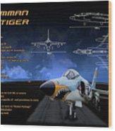 Grumman F-11 Tiger Wood Print