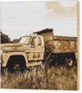 Grump The Ford Dump Truck Wood Print